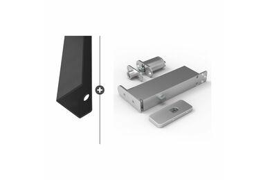 SKANTRAE Hang- en Sluitwerkpakket HSP604 Taatsscharnier Vernal Zwart T.B.V. SSL Series