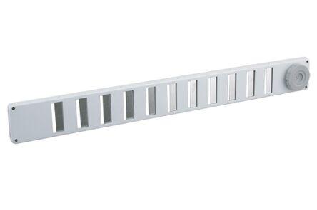 binnenrooster aluminium 370x40mm wit