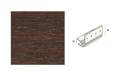 KERALIT 2867 Dakrandmontageprofiel 10mm Mahonie Classic Nerf 6000mm