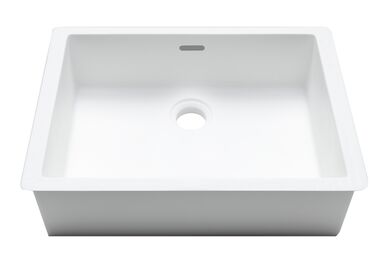 Krion Solid Surface Spoelbak B823 E Snow White 376x276x163mm