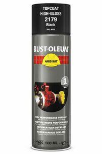 rustoleum hardhat verfspuitbus ral9005 zwart glans 500ml