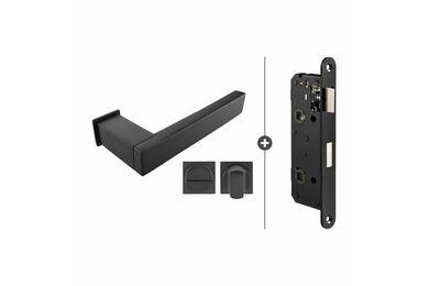 SKANTRAE Hang- en Sluitwerkpakket HSP844 WC Slot Lenox Zwart T.B.V. SSL Series