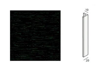 keralit eindprofiel 2806 donkerbruin 8017 4000mm