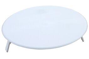 afdekplaat rond klemmend 95mm wit (set van 5 stuks)