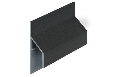 keralit aansluitprofiel 2810 trim/kraal classic zwart 9005 6000mm