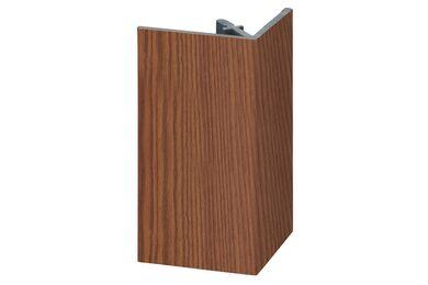 KERALIT 2812 Uitwendig Rechthoekprofiel Bruin Red Ceder Classic Nerf 46x46x4000mm