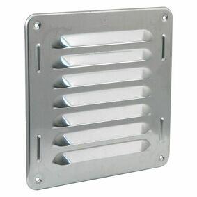 schoepenrooster aluminium 160x160mm rvs-kleur