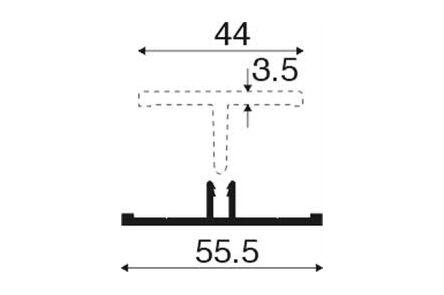 keralit verbindingstuk 2816 v 2817 kwartsgrijs ral7039