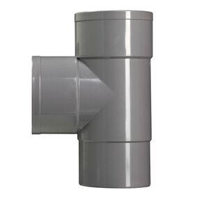 hwa t-stuk 90° 70x70mm vernauwd spie eind grijs