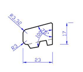 meranti glaslat c1 80mu gegrond fsc 100% 17x25,8x4000