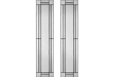 WEEKAMP Glas In Lood 2 Glasset T.B.V. WK6542 En WK6552 880x2015mm
