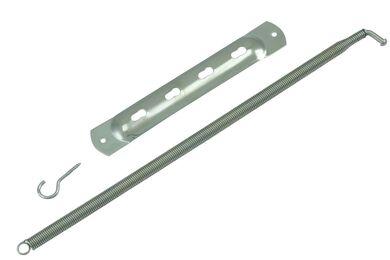 Deurtrekveer Spiraal Vernikkeld 10mm