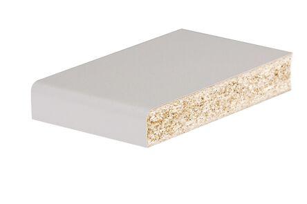 pontmeyer spaanplaat werkblad 1 zijde afgerond kant wit 3020x600x28mm