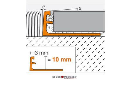 schluter tegelprofiel aluminium geanodiseerd recht 10x3000mm
