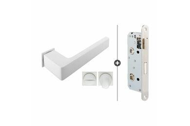 SKANTRAE Hang- en Sluitwerkpakket HSP852 WC Slot Dayton Mat Wit T.B.V. SSL Series