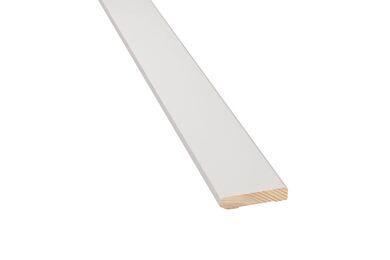 Q-PINE Plint Grenen Gelakt Ral 9010 9x45x480mm