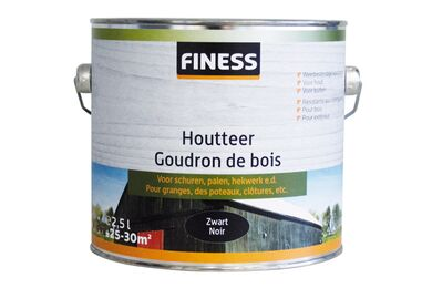 FINESS Houtteer Zwart Buiten 2,5Ltr