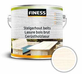 finess steigerhoutbeits binnen/buiten white-wash 2,5ltr