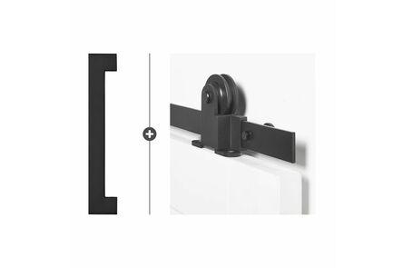 skantrae hang- en sluitwerkpak hsp514 schuifdeursysteem  foxtrot greep cambria zwart
