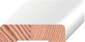 q-pine koplat recht afgelakt ral 9010  12x45x4800