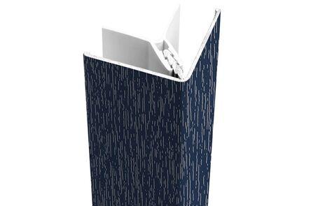 protex alu buitenhoekprofiel staalblauw ral 5011 3000mm
