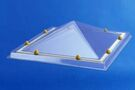 SKYLUX Lichtkoepel Piramyde vormig Acryl Opaal Enkelwandig 100x100cm