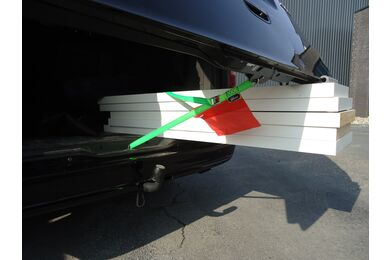Sjorband Groen Inclusief Rode Vlag Met Kofferbaksluiting 3000mm
