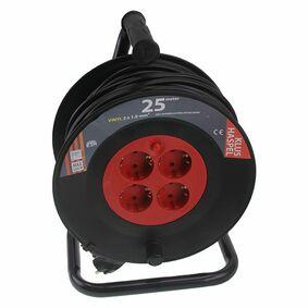 kabelhaspel vinyl 3x1mm² zwart/rood 25m