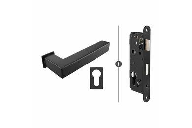 SKANTRAE Hang- en Sluitwerkpakket HSP826 Cilinderslot Akron Zwart T.B.V. SSL Series
