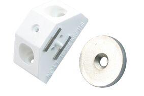 sx magneetslot voor hoeken 30mm wit 4kg