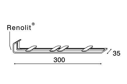 keralit tussenstuk 2838 creme 9001 300mm
