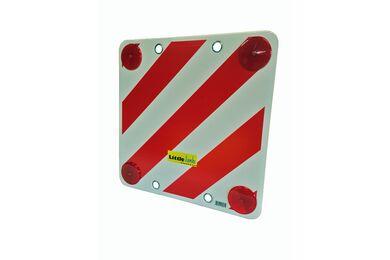 Gevarenbord PVC Reflecterend Met 4 Reflectoren En Bevestigingsoog 50x50cm