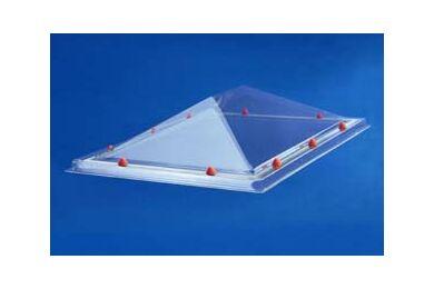 SKYLUX Lichtkoepel Piramyde vormig Polycarbonaat Opaal Triplewandig 40x70cm