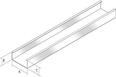 DINGEMANS C60/27 plafondprofiel L=3000mm
