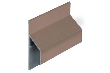 keralit aansluitprofiel 2810 trim/kraal classic bruingrijs 6000mm
