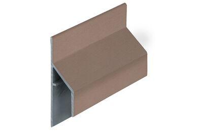 KERALIT 2810 Trim/Kraal Aansluitprofiel 17mm Bruingrijs Classic Nerf 6000mm