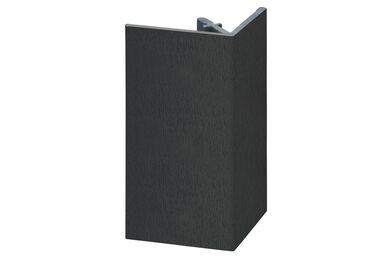 KERALIT 2812 Uitwendig Rechthoekprofiel Zwart Classic Nerf 46x46x4000mm