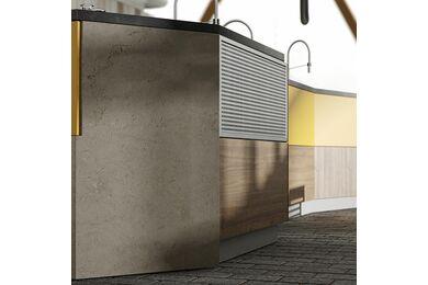 Kronospan Slim Line Werkblad HPL K205 SL Black Concrete 4100x1300x12mm