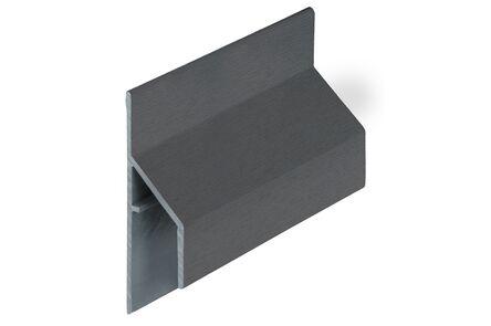 keralit aansluitprofiel 2810 trim/kraal classic antraciet 7016 6000mm