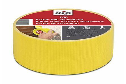 kip steenband verwijderbaar 258 44mm x 50m geel