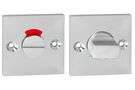IMPRESSO Rozet WC Vierkant Schroef Modulair Aluminium