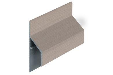 KERALIT 2810 Trim/Kraal Aansluitprofiel 17mm Vergrijsd Ceder Classic Nerf 6000mm