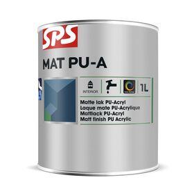 sps lakverf pu-acryl basis mat wit 2,5ltr