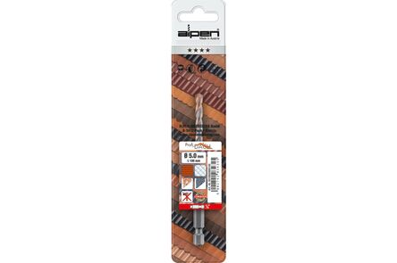 alpen hm dakpanboor 1/4 6-kant 5.0mm