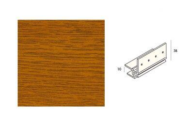 KERALIT 2867 Dakrandmontageprofiel 10mm Golden Oak Classic Nerf 6000mm