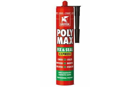 bison/griffon polymax lijmkit express zwart 435gr