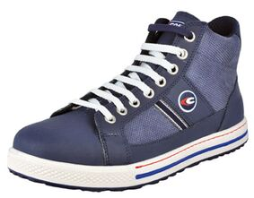 cofra veiligheids sneaker pressing hoog blauw maat 44