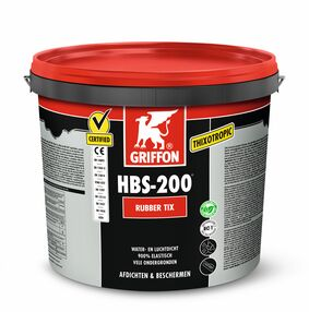 griffon bs-200 rubber tix afdichtingsmiddel zwart 16ltr