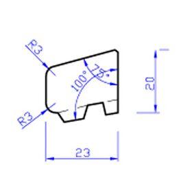 Meranti glaslat gevingerlast c2 80mu gegrond  17x26,6x4000