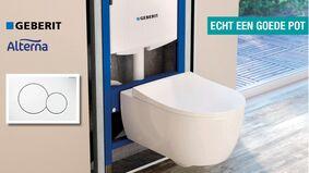 premium toiletset met calando closet + zitting en geberit duofix + bedieningsplaat
